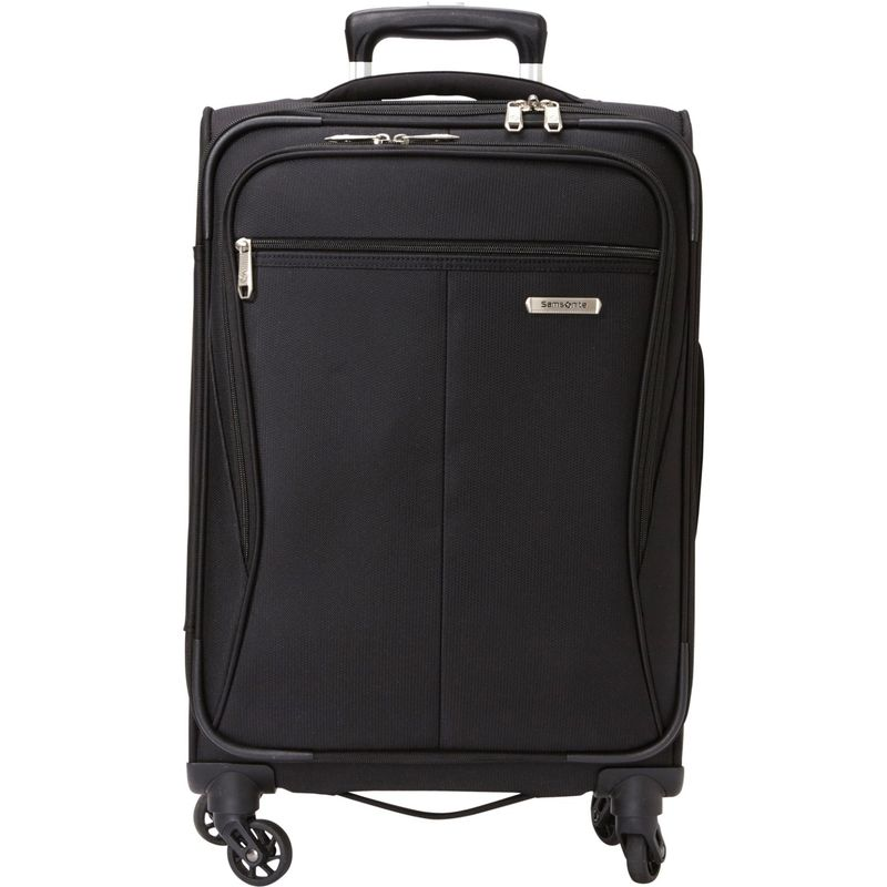 サムソナイト メンズ スーツケース バッグ Lamont 20 Expandable Carry-On Spinner - eBags Exclusive Black