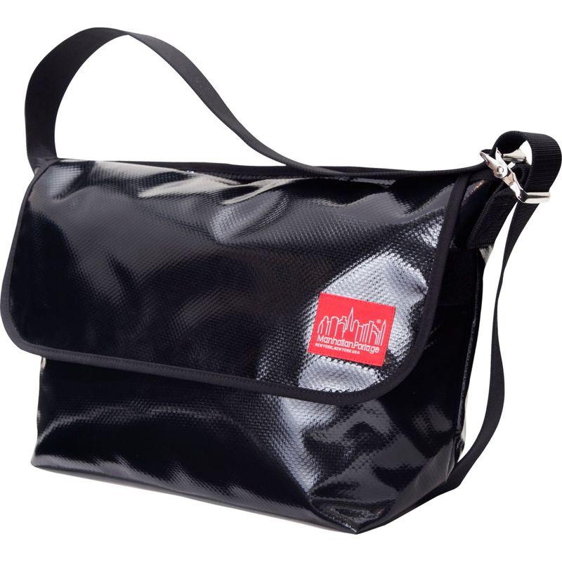 マンハッタンポーテージ メンズ ショルダーバッグ バッグ Vinyl Vintage Messenger Bag (LG) VER2 Black