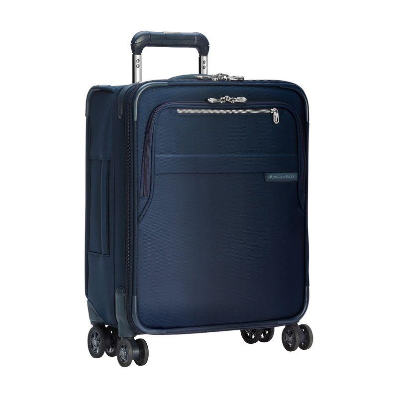 ブリグスアンドライリー メンズ スーツケース バッグ Baseline CX International Carry-On Expandable Wide-body Spinner Navy