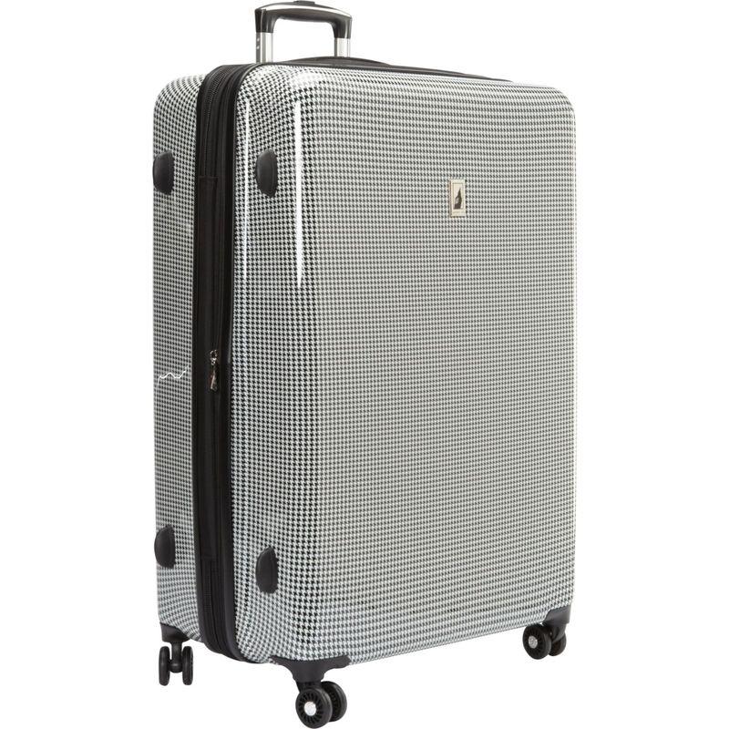 ロンドンフォグ メンズ スーツケース バッグ Cambridge 29 Expandable Hardside Spinner Black & White Houndstooth