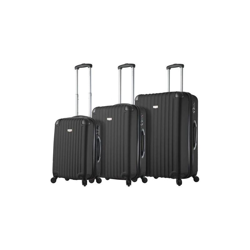 ミアビアッギ メンズ スーツケース バッグ Rovigo Hardside 3 Piece Spinner Set Black