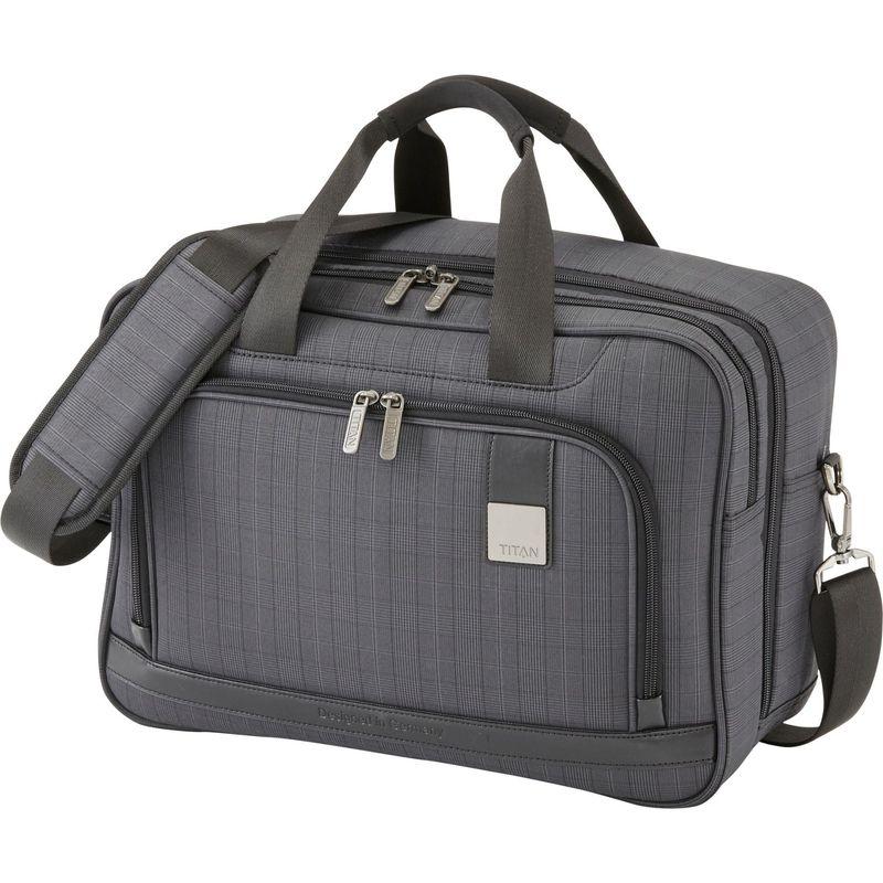 タイタンバッグス メンズ スーツケース バッグ CEO The Confident 17 Brief Boarding Bag Glen Check