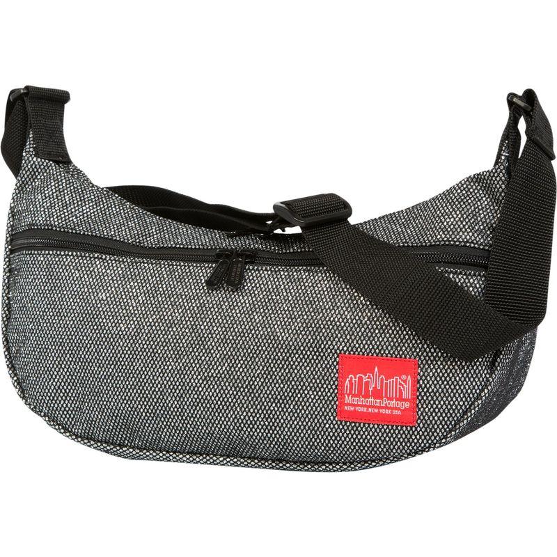 マンハッタンポーテージ メンズ ショルダーバッグ バッグ Midnight Crescent Street Shoulder Bag Gunmetal Silver