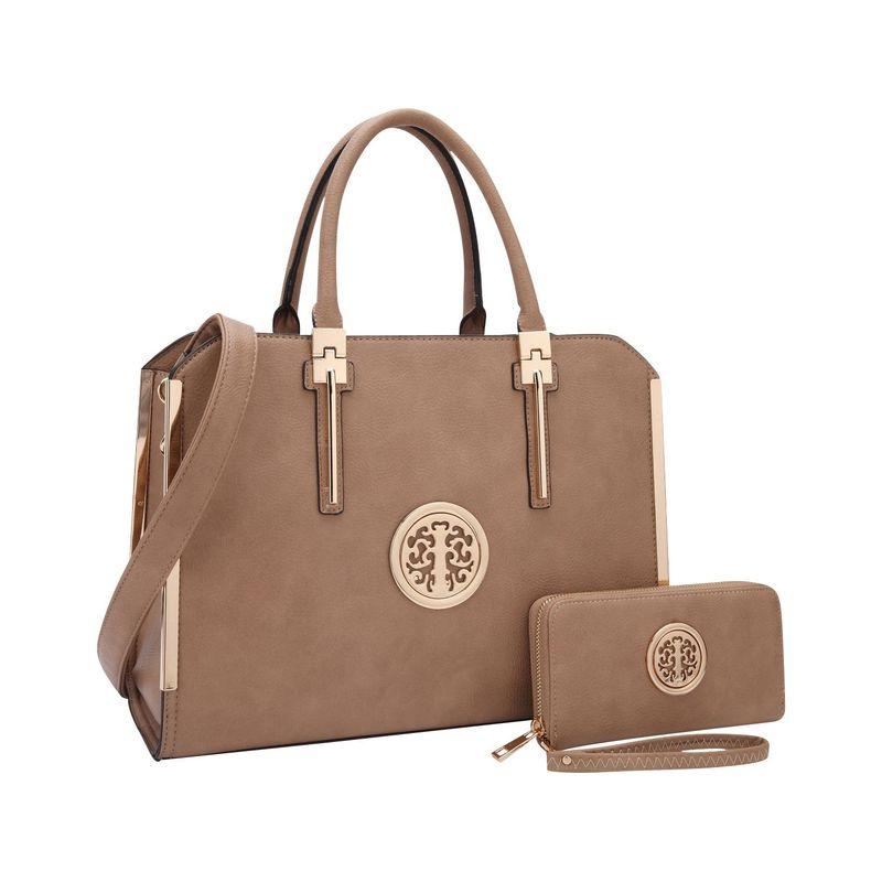 ダセイン メンズ スーツケース バッグ Simply Classic Briefcase with Matching Wallet Dark Beige