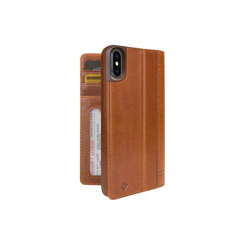 トゥエルブサウス メンズ PC・モバイルギア アクセサリー Journal for iPhone X Cognac