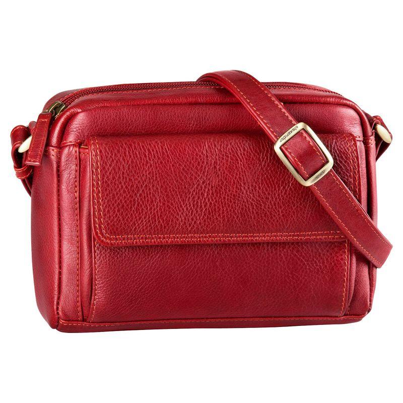 デレクアレクサンダー メンズ ボディバッグ・ウエストポーチ バッグ Small Front Pocket Travel Crossbody Red