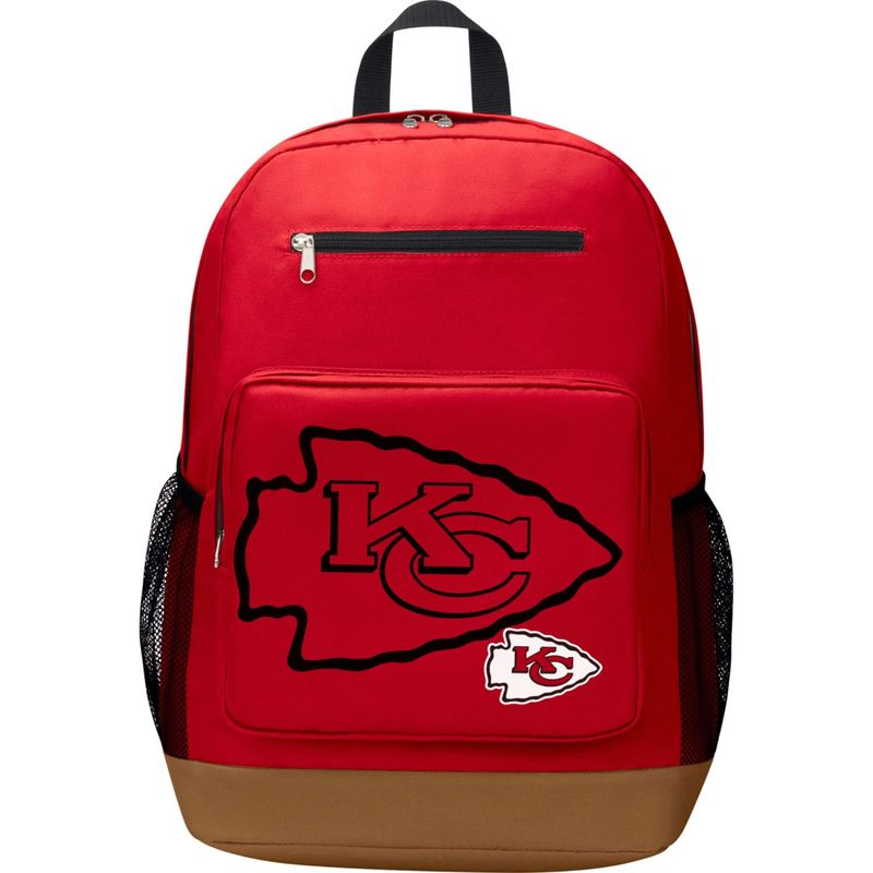 NFL メンズ バックパック・リュックサック バッグ PlayMaker Laptop Backpack Kansas City Chiefs