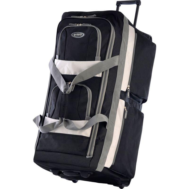 オリンピア メンズ スーツケース バッグ 33 Inch 8 Pocket Rolling Duffel Black