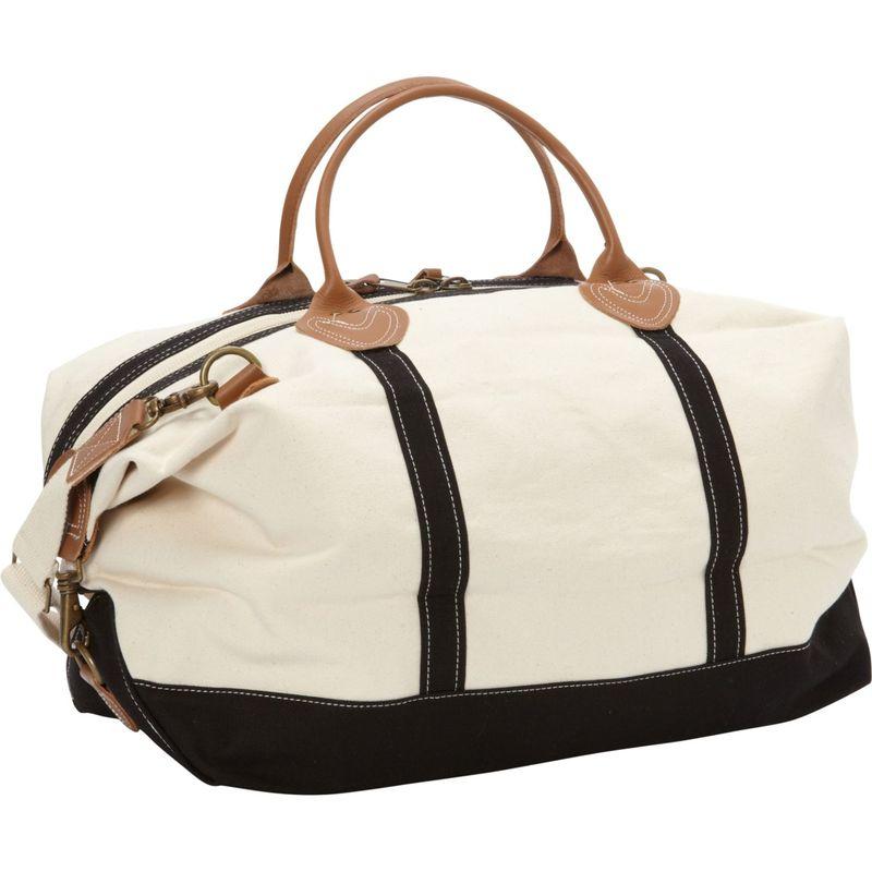 ロンバスキャンバス メンズ スーツケース バッグ Signature Duffle Black/White