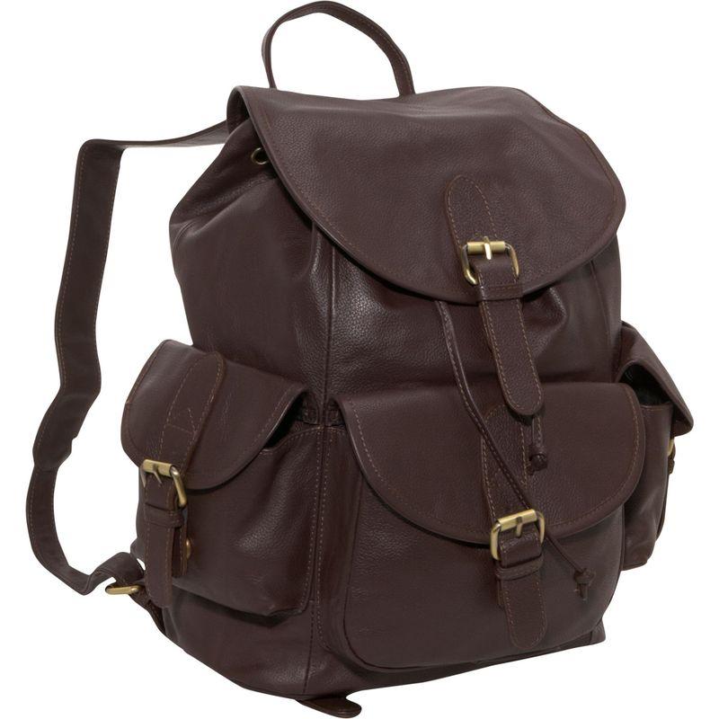 アメリ メンズ バックパック・リュックサック バッグ Urban Buckle-Flap Backpack Dark Brown