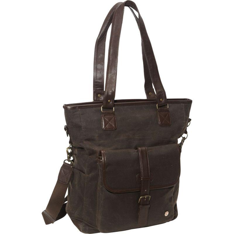 トーケン メンズ トートバッグ バッグ Amsterdam Waxed Tote Bag Dark Brown