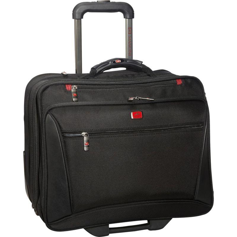 マンシニレザーグッズ メンズ スーツケース バッグ CompuTraveller-Wheeled 17 Laptop Briefcase Black