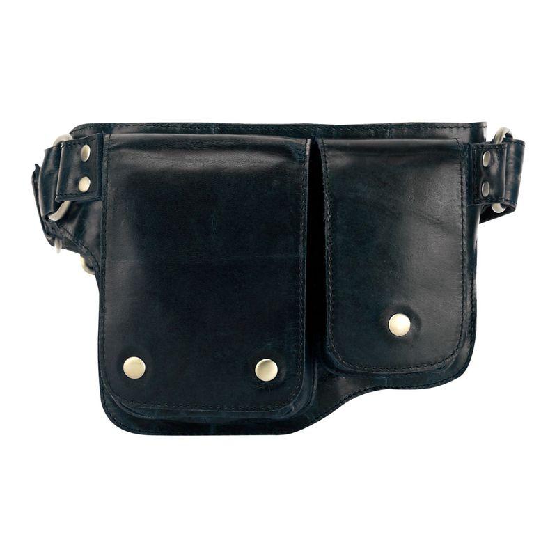 ビンセンゾレザー メンズ ボディバッグ・ウエストポーチ バッグ Adonis 2 Leather Waist Pack Hip Purse Black