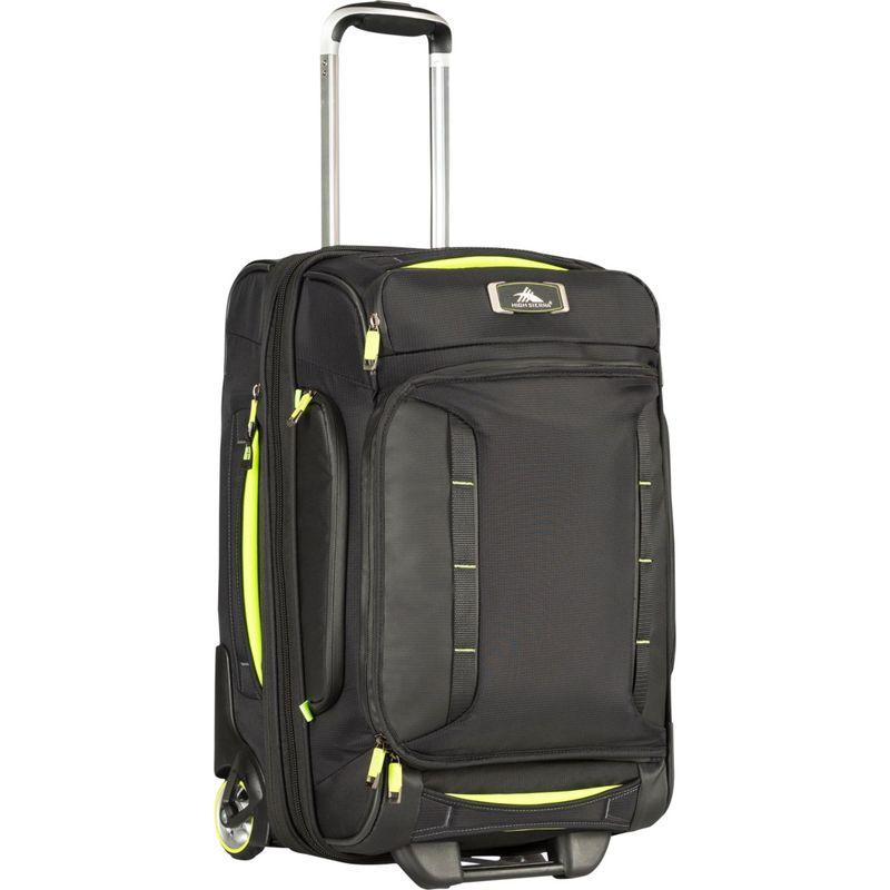 ハイシエラ メンズ スーツケース バッグ AT8 Carry-On Wheeled Duffel Upright Black/Zest