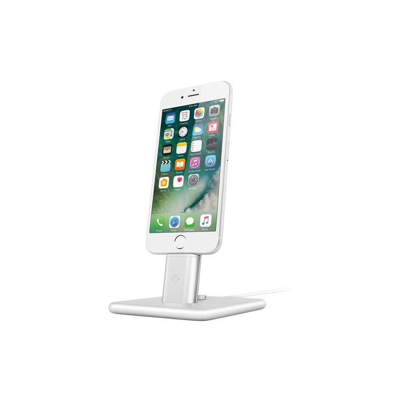 トゥエルブサウス メンズ PC・モバイルギア アクセサリー HiRise 2 Deluxe Charging Stand for iPhone & iPad Silver
