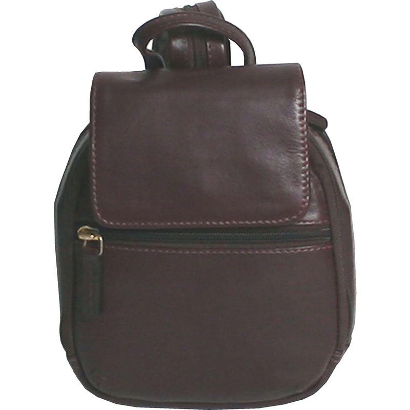 スカーリー メンズ バックパック・リュックサック バッグ Mini Leather Backpack Handbag Chocolate