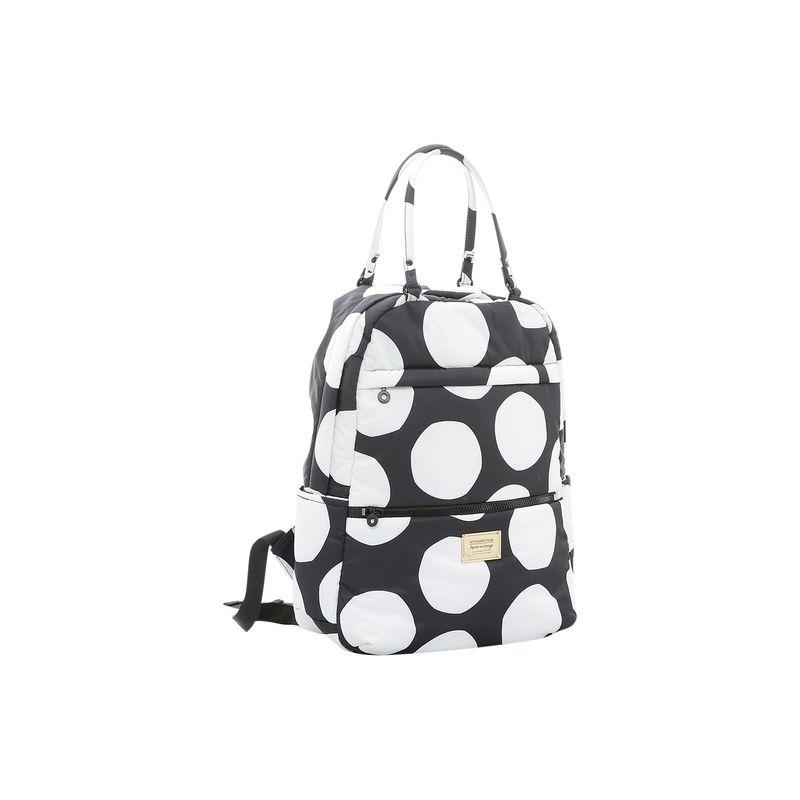 ヴォヴァロヴァ メンズ バックパック・リュックサック バッグ Double Handle Backpack Pop Dot - Black White