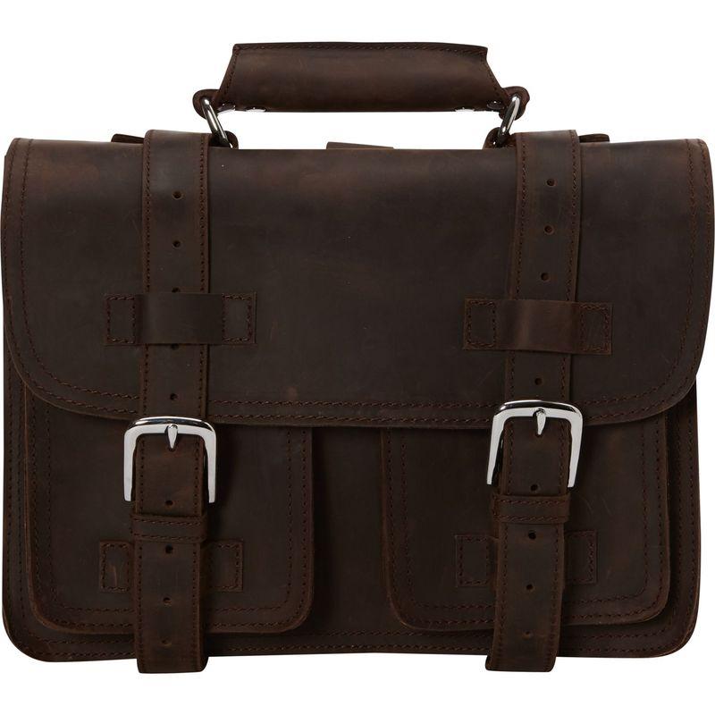 ヴァガボンドトラベラー メンズ スーツケース バッグ 14 Medium CEO Leather Briefcase/Backpack Tote Dark Brown