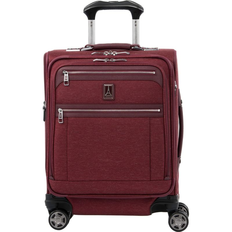 トラベルプロ メンズ スーツケース バッグ Platinum Elite International Expandable Carry-On Spinner with USB Port Bordeaux