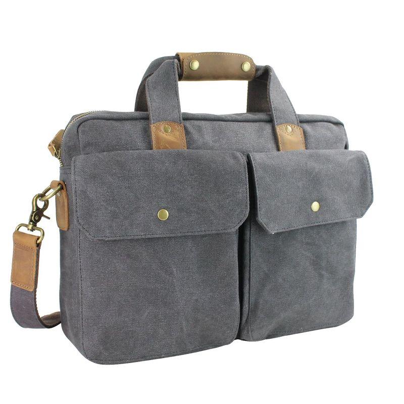 ヴァガボンドトラベラー メンズ スーツケース バッグ 15 Casual Laptop Messenger Bag Grey