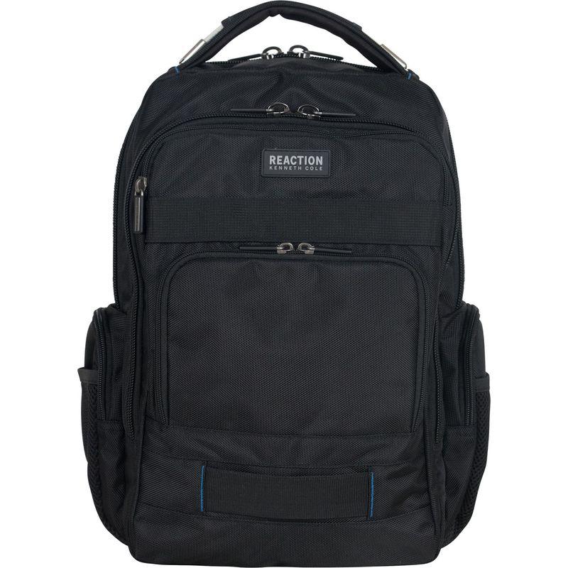 ケネスコール メンズ スーツケース バッグ Urban Triple Compartment 17 Laptop Backpack with Anti Theft RFID Black With Blue Pop