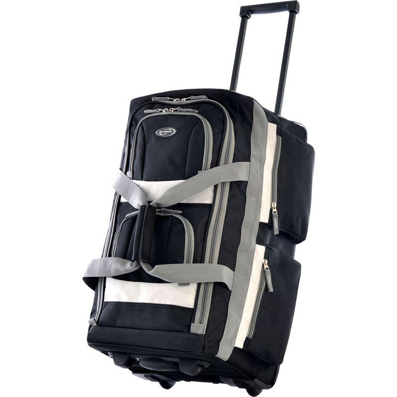 オリンピア メンズ スーツケース バッグ 22 8 Pocket Rolling Duffel Bag Black