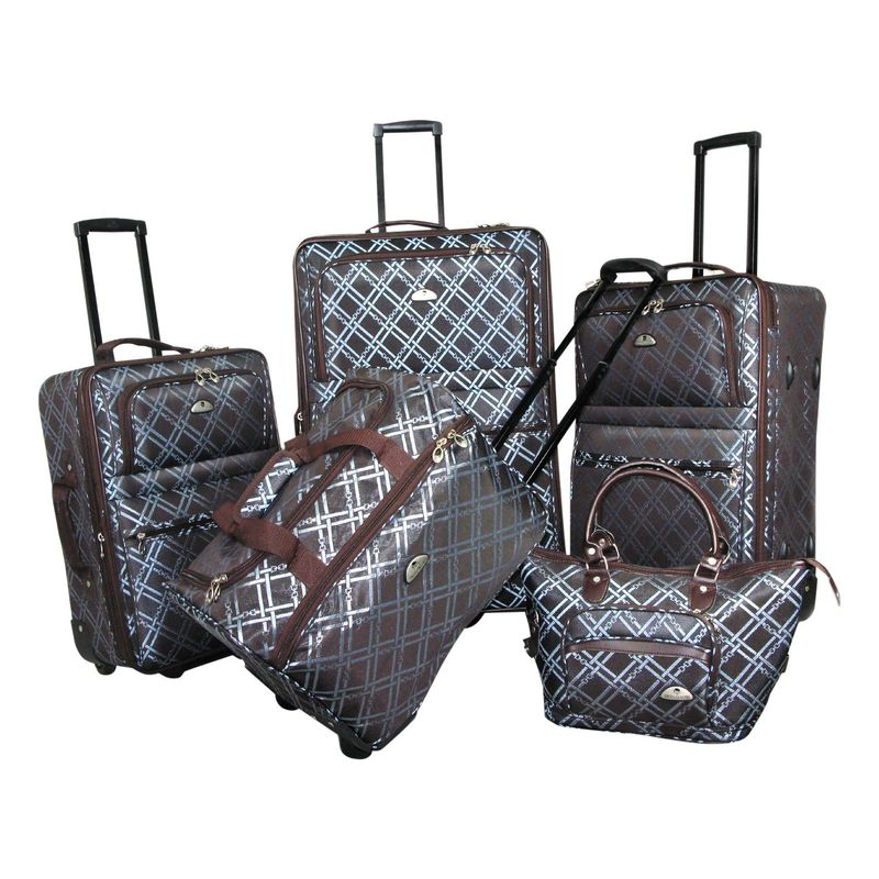 アメリカンフライアー メンズ スーツケース バッグ Pemberly 5 Piece Buckles Set Metallic Blue