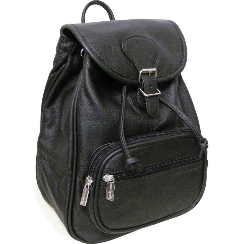 アメリ メンズ バックパック・リュックサック バッグ Ladies' Leather Backpack Black
