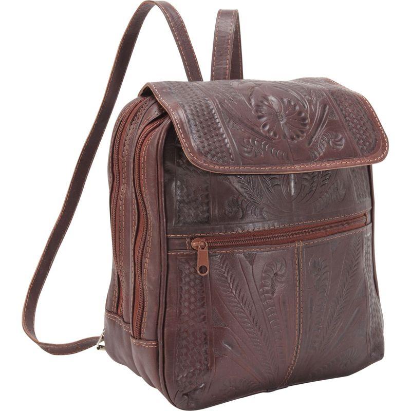 ロピンウェスト メンズ バックパック・リュックサック バッグ Backpack Handbag Brown