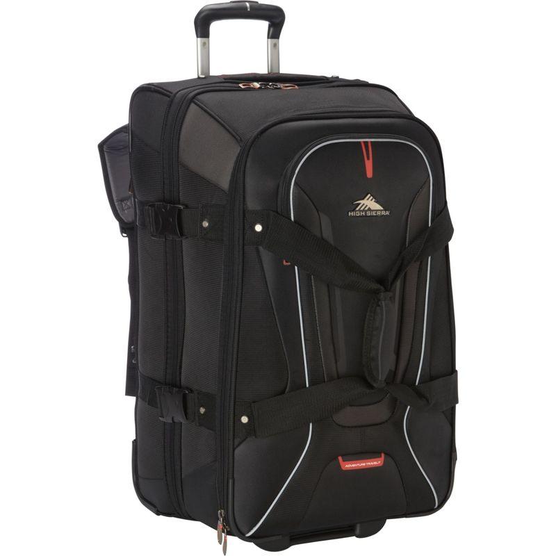 ハイシエラ メンズ スーツケース バッグ AT7 26 inch Wheeled Duffel with Backpack Straps Black