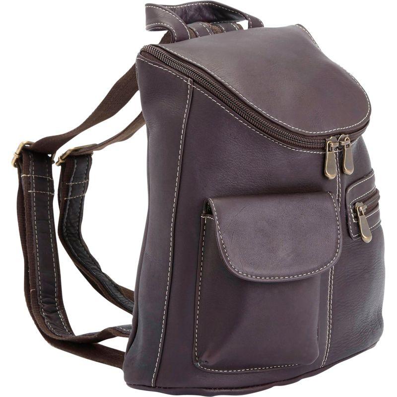 ロイスレザー メンズ バックパック・リュックサック バッグ Luxury Colombian Leather Tablet/iPad Backpack Cafe
