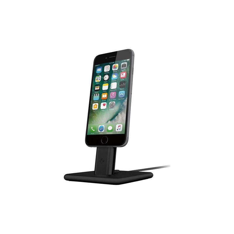 トゥエルブサウス メンズ PC・モバイルギア アクセサリー HiRise 2 Charging Stand for iPhone/iPad Black