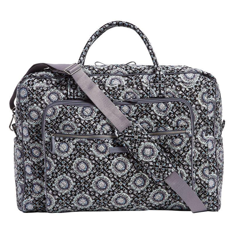 ベラブラッドリー メンズ スーツケース バッグ Iconic Grand Weekender Travel Bag Charcoal Medallion