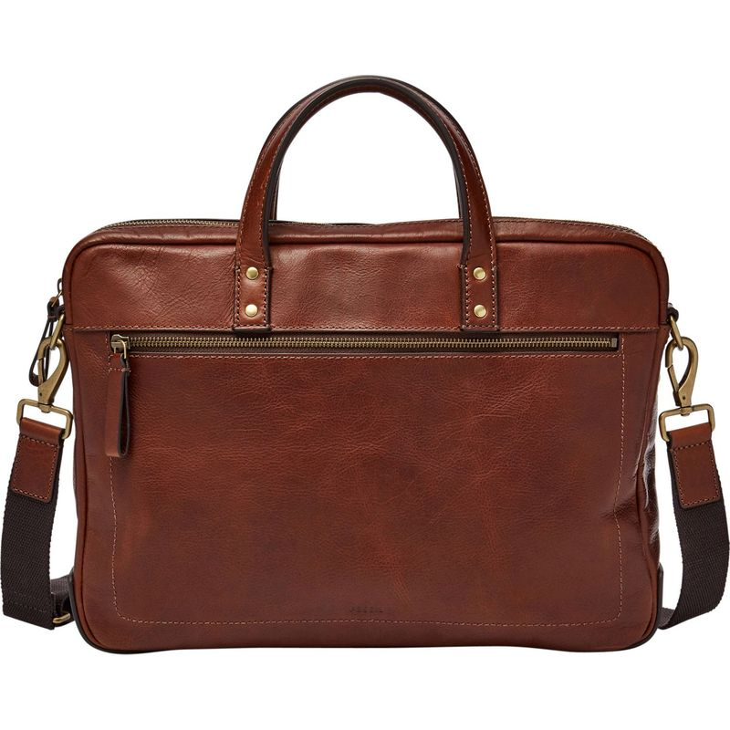 フォッシル メンズ スーツケース バッグ Defender Briefcase Cognac