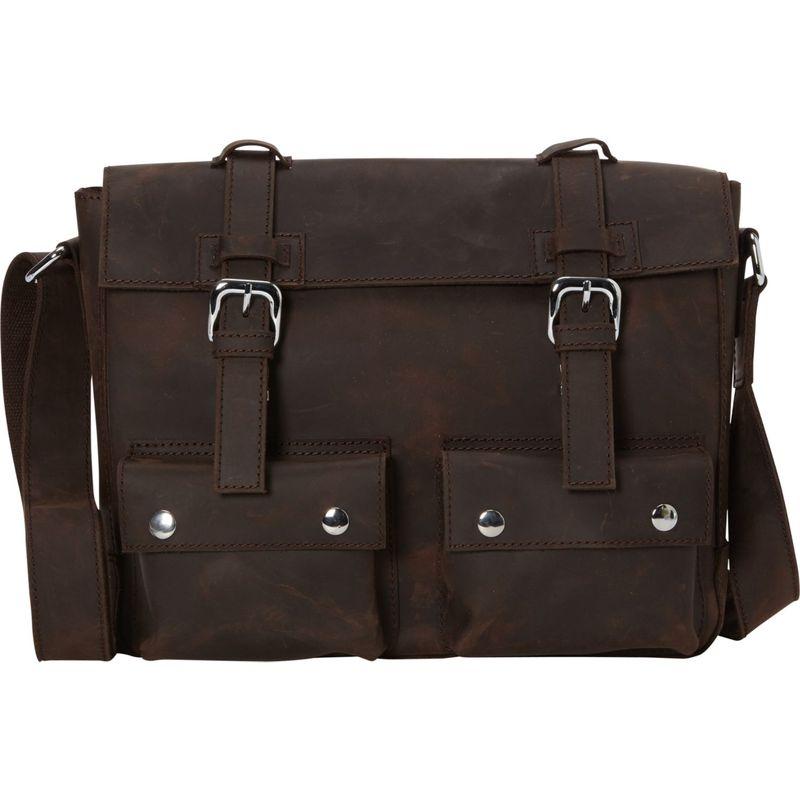 ヴァガボンドトラベラー メンズ ショルダーバッグ バッグ 13.5 Cowhide Leather Messenger Shoulder Bag Dark Brown