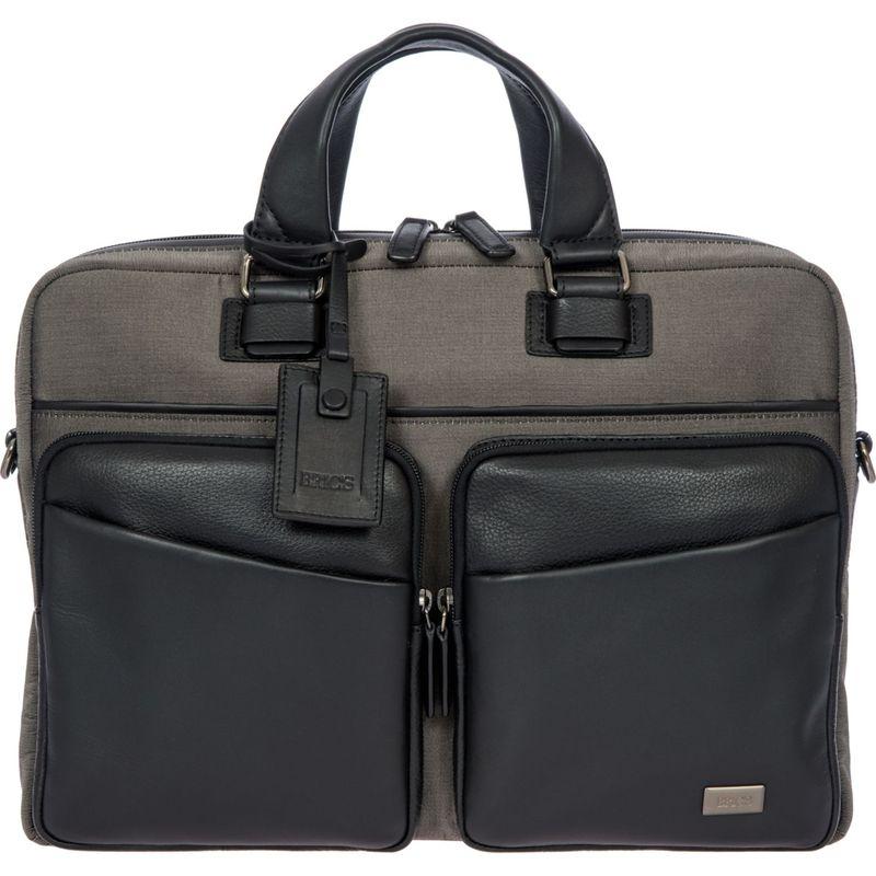 ブリックス メンズ スーツケース バッグ Monza Business Briefcase Grey/Black
