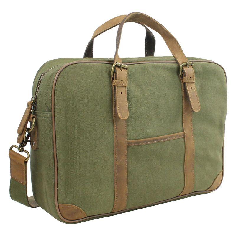 ヴァガボンドトラベラー メンズ スーツケース バッグ 16 Casual Laptop Messenger Bag Green