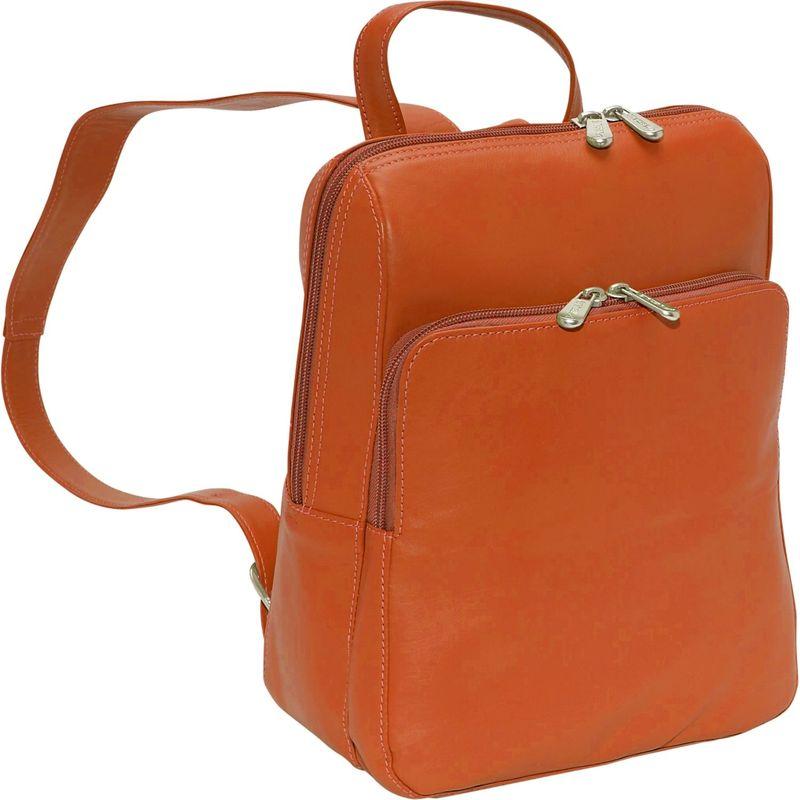 ピエール メンズ バックパック・リュックサック バッグ Slim Front Backpack Saddle
