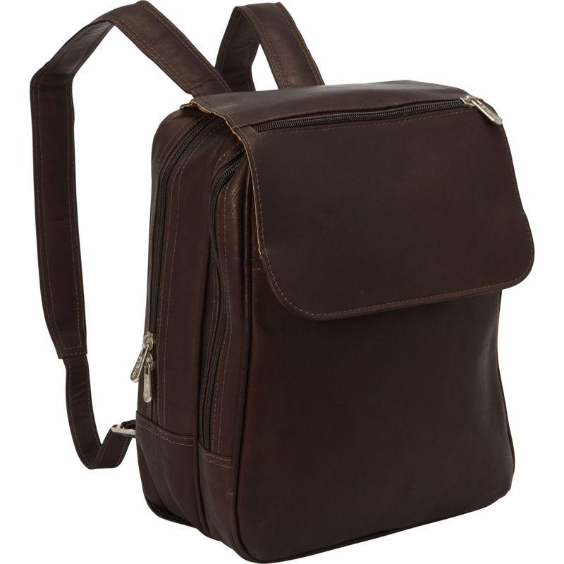 ピエール メンズ バックパック・リュックサック バッグ Flap-Over Tablet Backpack Chocolate