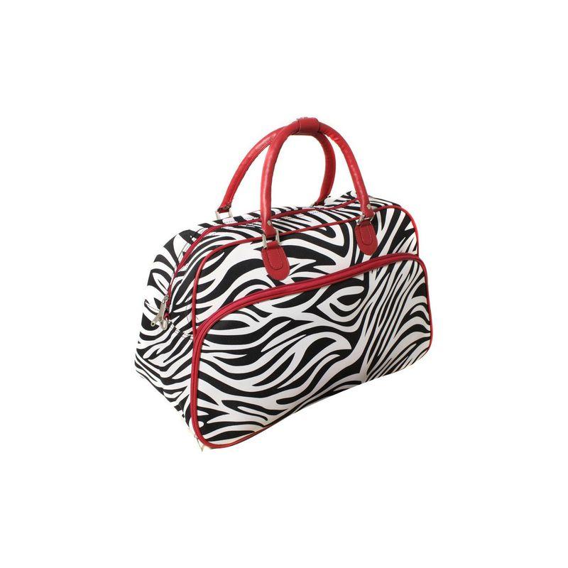 ワールドトラベラー メンズ スーツケース バッグ Zebra 21 Carry-On Duffel Bag Red Trim Zebra