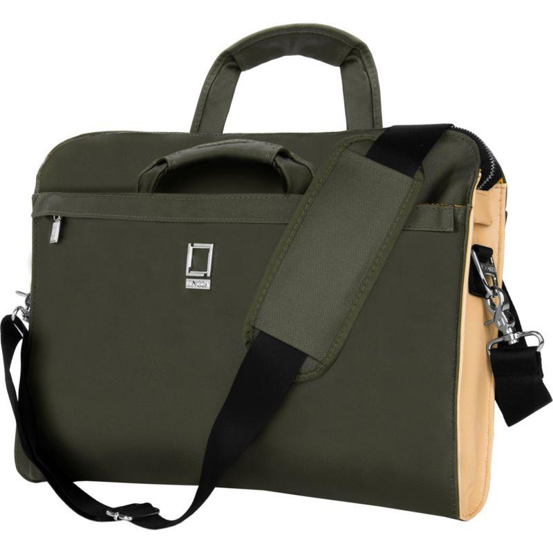 レンッカ メンズ スーツケース バッグ Capri Messenger Shoulder Bag for 14-15Devices Olive