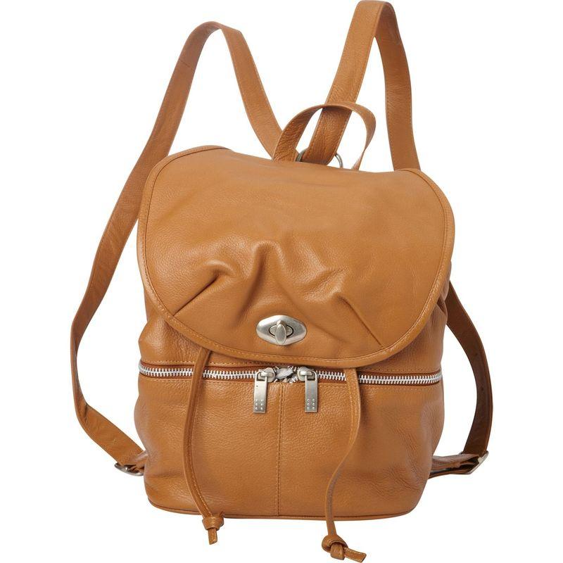 ピエール メンズ バックパック・リュックサック バッグ Leather Drawstring Backpack Saddle
