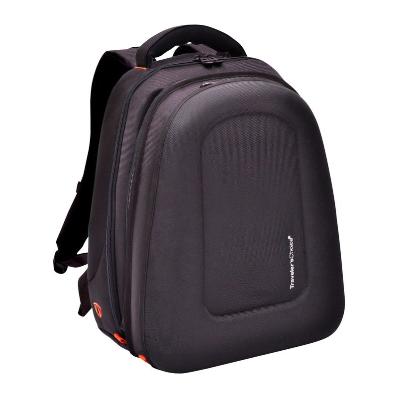 トラベラーズチョイス メンズ バックパック・リュックサック バッグ Compression-Molded 17 Expandable Laptop Backpack Black