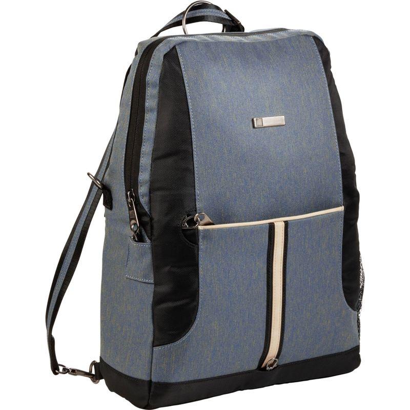 ルイスエヌクラーク メンズ バックパック・リュックサック バッグ Secura Destinations Convertible Messenger/Backpack Bluestone