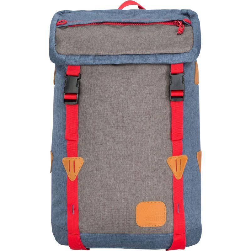 ハイシエラ メンズ バックパック・リュックサック バッグ Klettersack Laptop Backpack Dusty Blue/Slate/Crimson