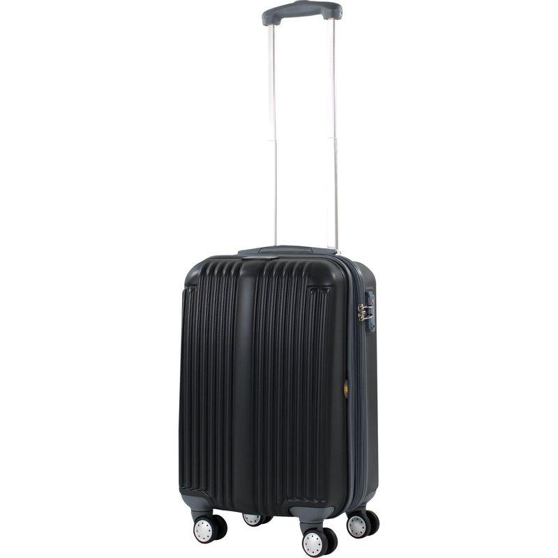 アメリカングリーントラベル メンズ スーツケース バッグ Rockdale 19 Expandable Hardside Carry-On Spinner Black
