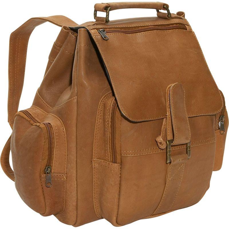 デビッドキング メンズ バックパック・リュックサック バッグ Top Handle Backpack Tan