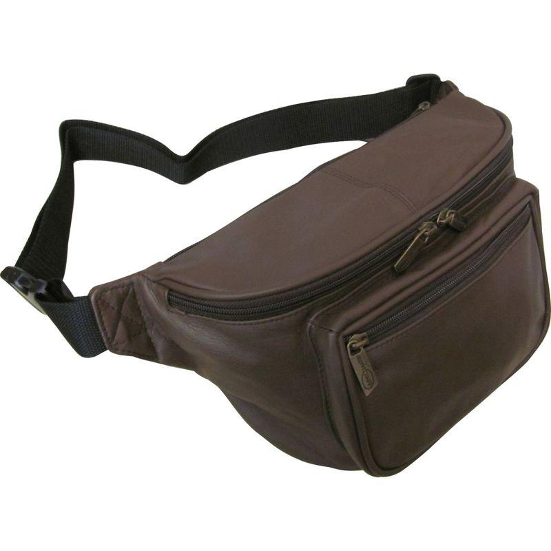アメリ メンズ ボディバッグ・ウエストポーチ バッグ Jumbo Size Leather Fanny Pack Dark Brown