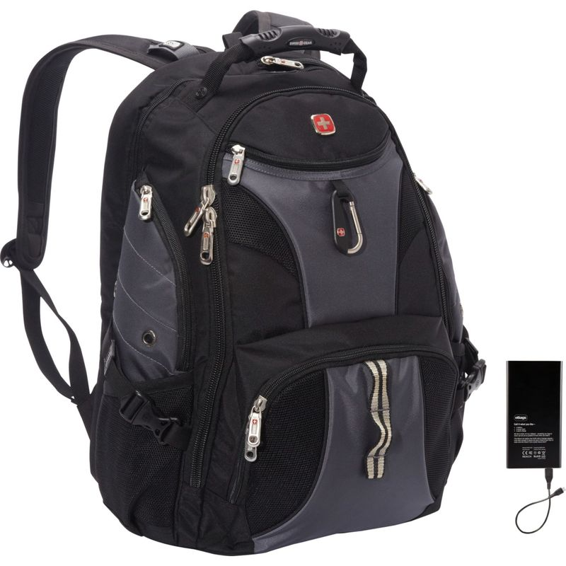 スイスギアトラベルギア メンズ スーツケース バッグ ScanSmart Backpack 1900 w/ Lifeboat Battery Black/Grey, 直輸入価格のルース屋さん a74f8fe5