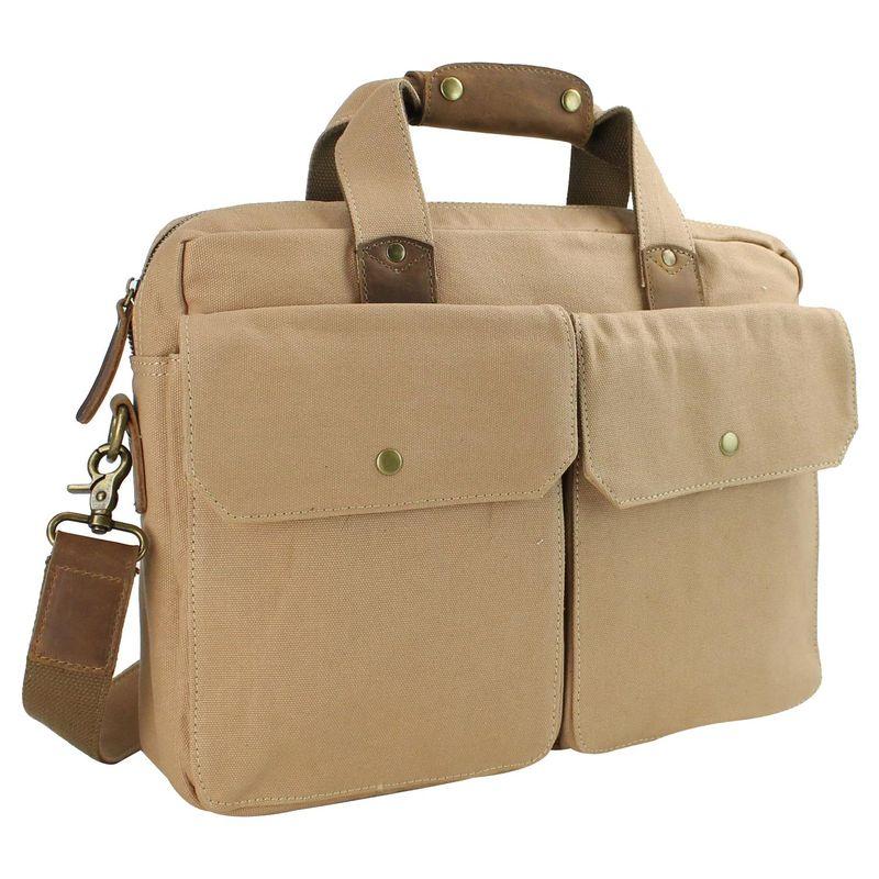 ヴァガボンドトラベラー メンズ スーツケース バッグ 15 Casual Laptop Messenger Bag Khaki